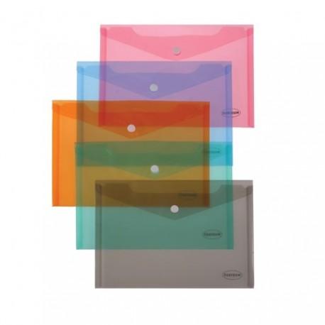 Plic din plastic cu capsa, A4 landscape, Centrum, culori asortare