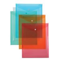 Plic din plastic cu capsa, A4 portret, Centrum, culori asortare