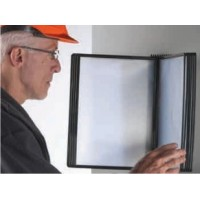 Display de perete pentru 10 buzunare A4, Probeco EasyMont - negru