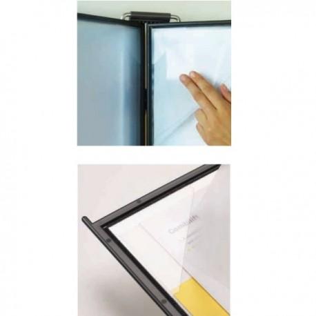 Set 10 buzunare A4 pentru display, Probeco QuickLoad - gri deschis