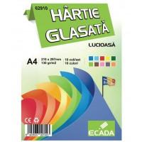 Hartie glasata lucioasa A4, 10 buc./set, Ecada