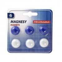 Magneti diametru 20 mm, 6 buc./set, Memoboards