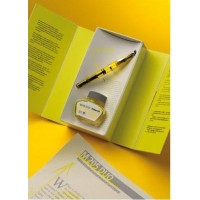 Set stilou Pelikan Classin M205 Highlighter + cerneala 30ml Highlighter Yellow