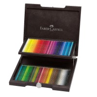 Cutie lemn creioane colorate Polichromos 72 buc., Faber-Castell