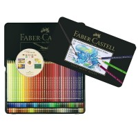 Creioane colorate acuarela A.Durer 120 buc.+CD,  Faber-Castell