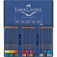 Creioane colorate acuarela Art Grip 60 culori,  Faber-Castell
