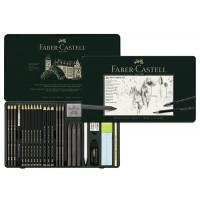 Set Pitt Monochrome Grafit 26 Buc. Faber-Castell