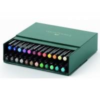 Set 24 markere cu varf pensula Faber-Castell Pitt Artist Pen Brush Studio