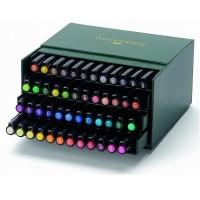 Set 48 markere cu varf pensula Faber-Castell Pitt Artist Pen Brush Studio