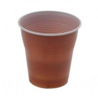 Pahare plastic maro 166 ml, 100 buc./set