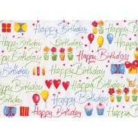 Hartie impachetat Happy Birthday, 2m x 70cm, Herlitz