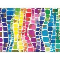 Hartie impachetat Rainbow carouri 2m x 70cm, Herlitz