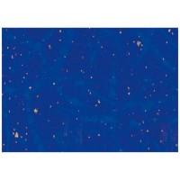 Hartie impachetat albastra cu puncte aurii 2m x 70cm, Herlitz