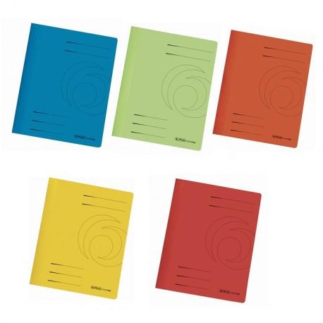 Dosar carton color cu sina Herlitz