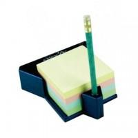Cub autoadeziv cu suport, 76 x 76 mm, 400 file, HOPAX - 4 culori pastel