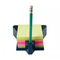 Cub autoadeziv cu suport, 76 x 76 mm, 400 file, HOPAX - 5 culori neon