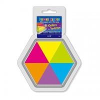 Notes adeziv puzzle - 43 x 50 mm, HOPAX - 6 culori fluorescente