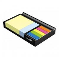 Notes adeziv 76x76 mm + 76x25mm + 45x12mm cu suport, HOPAX