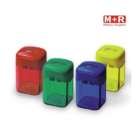 Ascutitoare metalica dubla cu container Quattro Swing, M+R