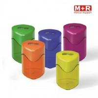 Ascutitoare metalica dubla cu container Trio Swing, M+R