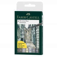 Pitt Artist Pen Soft Brush set 8 buc. Faber-Castell