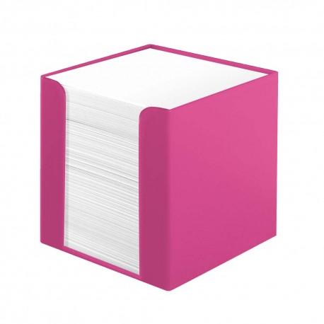 Cub hartie alba 700 file cu suport plastic, Herlitz Color Blocking - Cool Pink