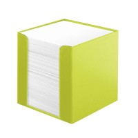 Cub hartie alba 700 file cu suport plastic, Herlitz Color Blocking - Sporty Lemon