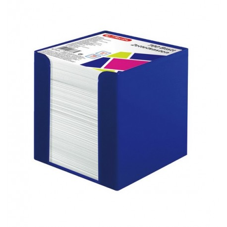 Cub hartie alba 700 file cu suport plastic, Herlitz Color Blocking - Active Blue