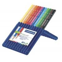 Creioane color Staedtler 12 culori Ergosoft triunghiulare