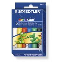 Plastilina 6 culori, 126g, Staedtler Noris