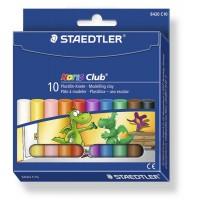 Plastilina 10 culori, 210g, Staedtler Noris