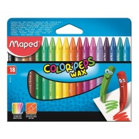 Creioane color cerate Maped 18 culori
