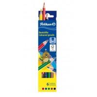Creioane colorate Pelikan 6 culori
