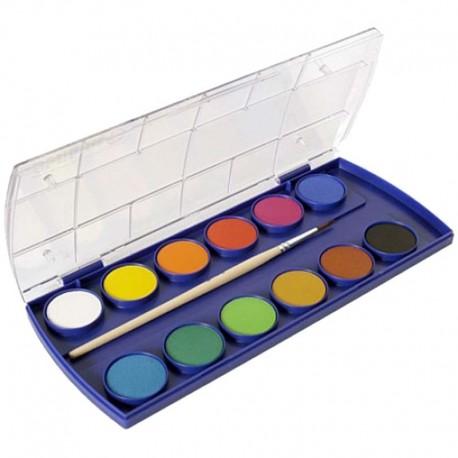 Acuarele 12 culori+pensula Pelikan