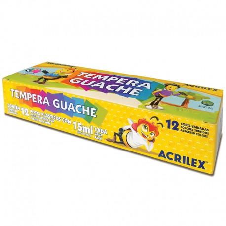 Tempera guase 12 culori 15 ml Acrilex