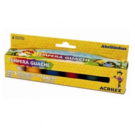 Tempera guase 6 culori 15 ml Acrilex