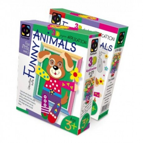 Set creativitate colaj 3D Funny Animals Catel, Elf Market