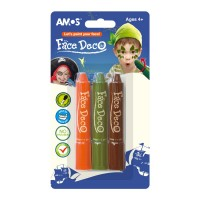Culori pentru fata si piele Pirat set 3 culori, Amos