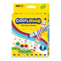 Carioca set 8 culori cu stampile, Amos