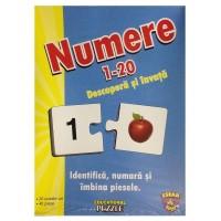 Puzzle jocul numerelor 1-20