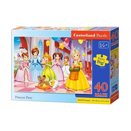 Puzzle 40 piese maxi Princess Party, Castorland