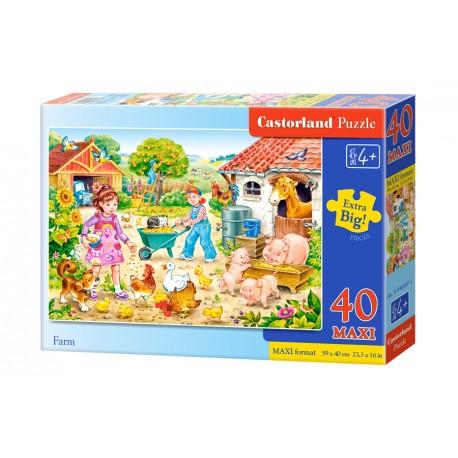 Puzzle 40 piese maxi Ferma, Castorland