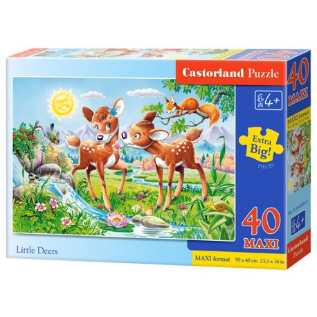 Puzzle 40 piese maxi Little Deers, Castorland