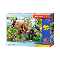 Puzzle 40 piese maxi Junior Jungle, Castorland