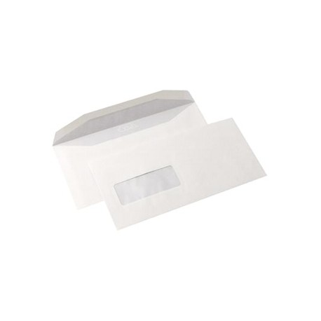 Plic DL alb siliconic cu fereastra, 50 buc./set