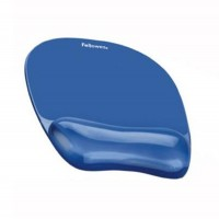 Mouse Pad si Spuport Incheieturi Albastru Gel Crystal Fellowes