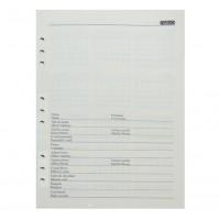 Rezerva organizer B5, 100 file, Nebo