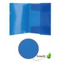 Mapa plastic A4 transparenta cu textura diagonala, cu elastic, ErichKrause