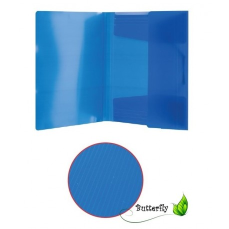 Mapa Plastic ErichKrause A4 Textura Diagonala Cu Elastic Translucid Asortata