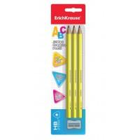 Set 3 creioane HB Jumbo + ascutitoare ErichKrause Abc